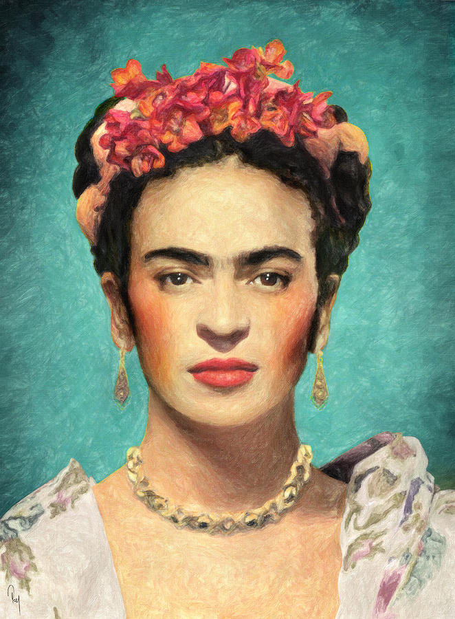 Frida Kahlo Painting by Taylan Soyturk Apukovska