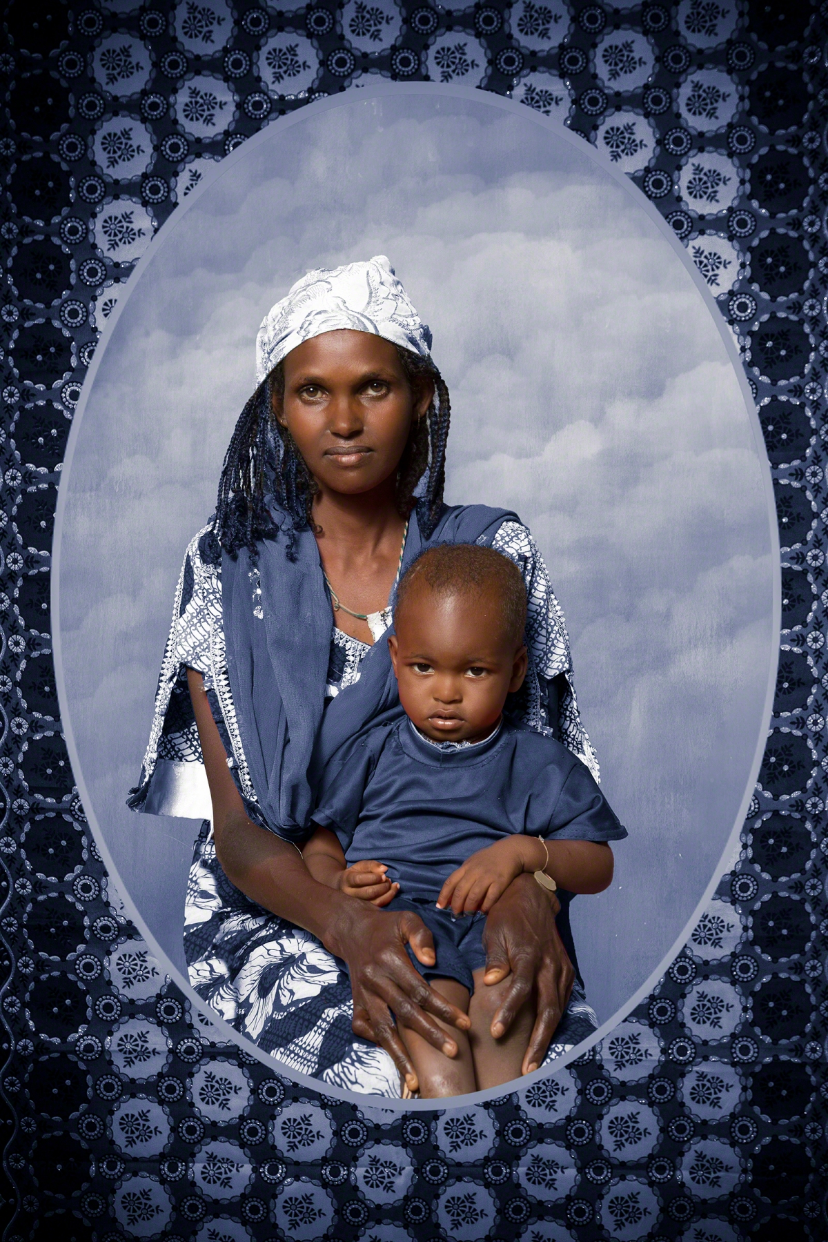 A photograph of a mother named Hawa and her infant son, Ibrahima.
