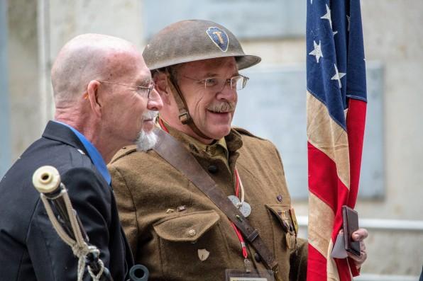 A picture of a veteran wearing a World War 1 uniform